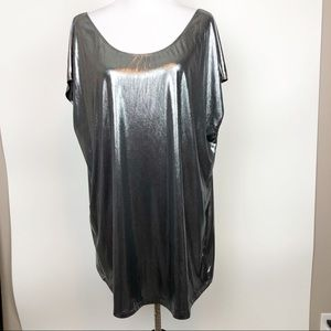 American Apparel Metallic Oversized Mini Dress M/L